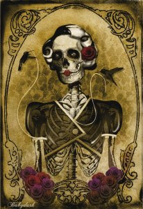 skeleton-woman