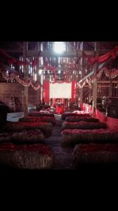 red tent barn