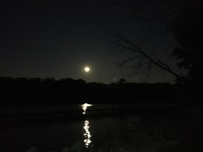 moon on the river
